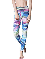 Pantalones de yoga Medias/Mallas Largas Leggings Transpirable Secado rápido Cintura Media Alta elasticidad Ropa deportiva MujerYoga