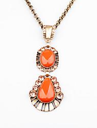 Women's Pendant Necklaces Geometric Chrome Unique Design Personalized Light Green Orange Jewelry For Housewarming Congratulations Casual