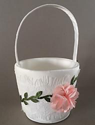 """Cesto de Flores Cetim 8 1/3"""" (21 cm) Flores"""