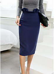 Women's High Rise Midi Skirts,Sexy A Line Solid