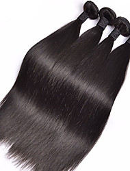 4Pcs/Lot 8-26inch Malaysia Virgin Straight Hair Natural Black Human Hair Weave Hair Bundles Sale.