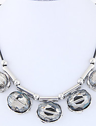 Women's Pendant Necklaces Oval Glass Alloy Euramerican Fashion Silver Jewelry For Party 1pc