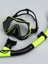 Snorkels Máscaras de mergulho Protecção Mergulho e Snorkeling Fibra de Vidro Neopreno