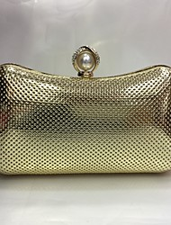 Femme pu event / party wedding evening bag silver black gold champagne