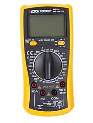Multímetro digital victor® vc890c Multímetros de pantalla lcd de auto-rango Medidor electrónico de medición ohm / volt con