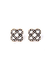 Stud Earrings Crystal Fashion Personalized Chrome Flower White Jewelry For Housewarming Thank You Business 1 pair