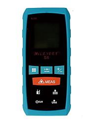 Mileseey s6 digital portátil 60m medidor de distância de laser de 196 pés com distância&Medição de ângulo (1,5 aaa baterias)