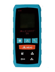 Mileseey S6 Handheld Digital 60m 196ft Laser Distance Measurer with Distance & Angle Measurement(1.5V AAA Batteries)