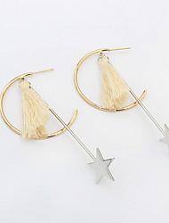 Star Circle Earrings USA Christmas Gifts Long Drop Earring Women Jewelry