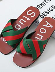 Women's Sandals Summer Comfort Fabric Casual Flat Heel Split Joint