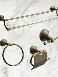 Bathroom Accessory Set 4PC Antique Brass
