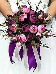 Fleurs de mariage Rond Roses Bouquets La Fête / soirée Satin