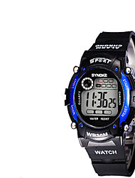 Men's Fashion Watch Digital Plastic Band Black