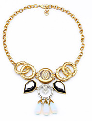 Women's Strands Necklaces Geometric Chrome Unique Design Gold Jewelry For Gift Daily 1pc