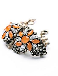 Femme Chaînes & Bracelets Bijoux Amitié Mode Alliage Forme de Fleur Orange Bijoux Pour Soirée Anniversaire 1pc