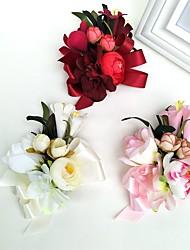 Hochzeitsblumen Freigeformt Rosen Knopflochblumen Hochzeit Partei / Abend Satin