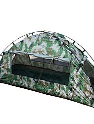 1 Pessoa Tenda Único Barraca de acampamento Tenda Dobrada Prova-de-Água Portátil 2000-3000 mm para Equitação Campismo CM Um Quarto Fibra