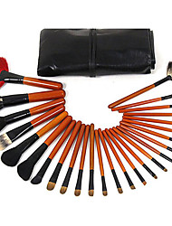 26 Red Fan Make-up Brush Sets Brush With Black Bag Brush Foundation Brush Honey Brush