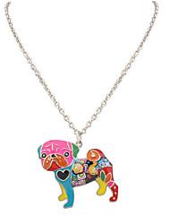 Femme Homme Pendentif de collier Bijoux Forme d'Animal Original Pendant Animal Fait à la main Simple Style Arc-en-ciel Bijoux Pour