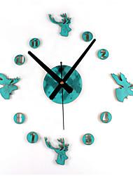 Antique Rétro Vacances Niches Mariage Horloge murale,Rond Métal Bois Intérieur Horloge