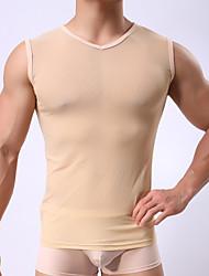 Sexy Solid UndershirtMesh Men's lingerie lingerie. (no panties)
