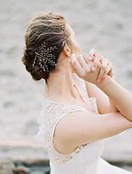 Crostal Capacete-Casamento Ocasião Especial Casual Escritório e Carreira Ao ar LivreTiaras Bandanas Flores Grinaldas Corrente para Cabeça