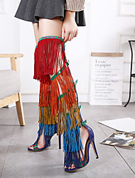 Feminino-Saltos-Light Up Shoes-Rasteiro-Luminoso-Couro Ecológico-Casamento