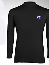 Men's Long Sleeve Golf Tops Breathable Sweat-wicking Comfortable Gray Black White Golf Leisure Sports