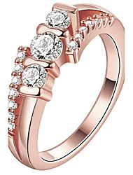 Кольцо Обручальное кольцо Кристалл Мода По заказу покупателя Euramerican Pоскошные ювелирные изделияХрусталь Медь Позолота Позолоченное