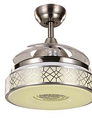 Ventilateur de plafond ,  Contemporain Nickel Fonctionnalité for LED MétalSalle de séjour Chambre à coucher Salle à manger Cuisine