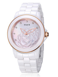 Women's Fashion Watch Japanese Quartz Ceramic Band White