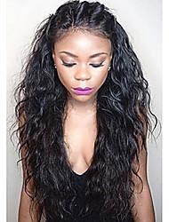 Venda quente !!! Peruca encaracolado natural da parte dianteira do laço cabelo virgem brasileiro virgem glueless parte dianteira perucas