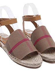 Mulheres sapatos solas luz tecido casual khaki