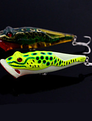 "1 pcs Others Fishing Lures Frog glass green Dark Green g/Ounce,100 mm/4"" inch,Hard Plastic Bait Casting"