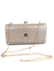 Lady vintage épingles à perles bag event / party / evening dinner bag gold