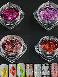 4bottle / set neue Art und Weise süße Artnagelkunst-Laserstreifen-Rauteentwurfs-Funkeln dünne Scheibe diy Schönheit, die paillette