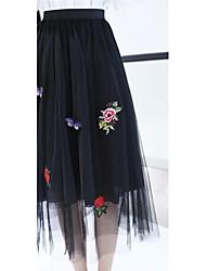 Mujer Tiro Alto Midi Faldas,Lápices Estampado