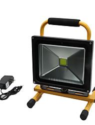 Hkv® 1pcs 30w 2850-2950lm 6000-6500k lumière blanche froide portable chargeable floodlight feux d'urgence led projecteur (ac 85-265v)