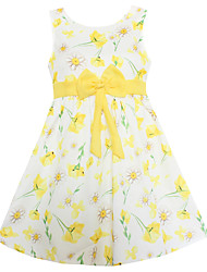 Girls Dress Yellow Flower Dresses Party Pageant Princess Baby Kids Clothing