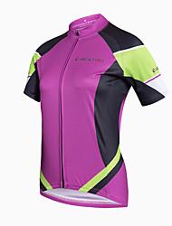 Maglia da ciclismo Per donna Manica corta Bicicletta Maglietta/Maglia Asciugatura rapida Traspirante Materiali leggeri Tasca posteriore