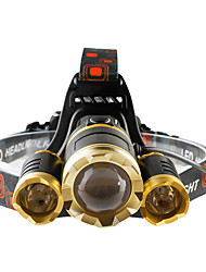Headlamps LED 4800 lumens Lumens 4 Mode Cree T6 Batteries not included Adjustable Focus Impact Resistant Rechargeable Waterproof Night