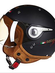 Beon b-110a motocicleta media casco harley casco abs anti-niebla anti-uv casco de seguridad unisex moda mate negro