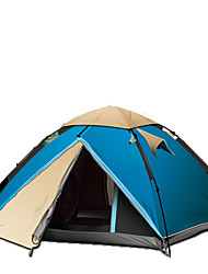 3-4 persons Tent Double Automatic Tent One Room Camping Tent Fiberglass OxfordWaterproof Windproof Ultraviolet Resistant Foldable