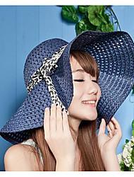 Hollow Summer Straw Hat Cap Wide Brim Hawaii Folding Soft Sun Hat Casual Foldable Brimmed Beach Hats For Women