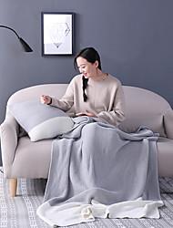 TricotadoSólido Sólido Acrílico / Algodão cobertores