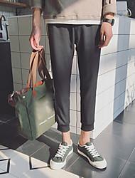 Men's Low Rise Micro-elastic Sweatpants Pants,Active Straight Solid