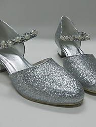 Women's Sandals Spring Summer Comfort Glitter Wedding Party & Evening Dress Chunky Heel Rhinestone Imitation Pearl