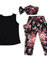 Girls Summer Stylish 2PCS Clothes Set OutfitsTop  Long Floral Pants