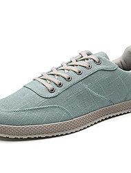 Men's Sneakers Spring Fall Light Soles Fabric Casual Light Green Gray Black Walking