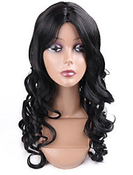 Hot Selling Black Color Synthetic Cosplay Wigs For Women Party Wigs